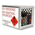 Aerosol can safety storage cage - 35 can capacity
