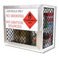 Aerosol can safety storage cage - 144 can capacity